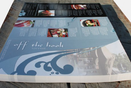 Off the Hook large sushi menu