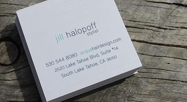unique business social cards