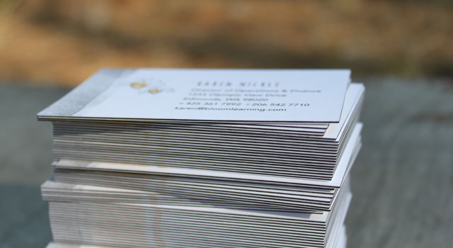 32pt black edge business cards