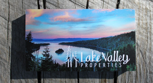 Website & Lake Tahoe Business Cards