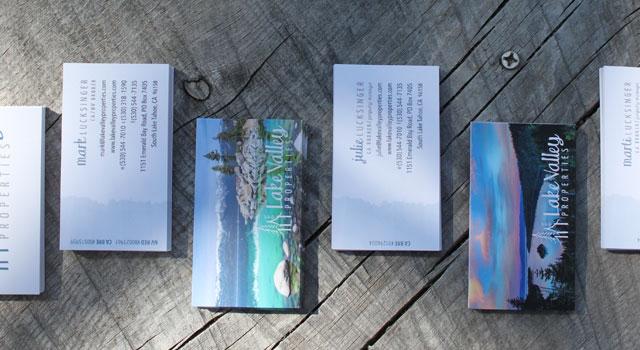 Website & Lake Tahoe Business Cards