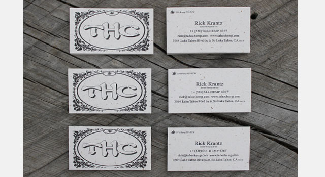 Business Cards with Recycled Paper
