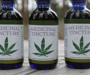 Medicinal Tincture cannabis marijuana label cbd thc design