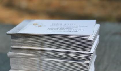 32pt black edge business cards