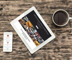 website for vintage burger restaurant