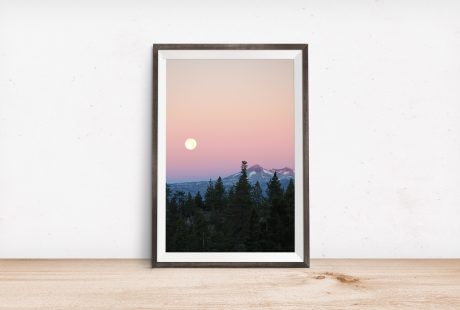 lake tahoe moon souvenir nature print fore print art